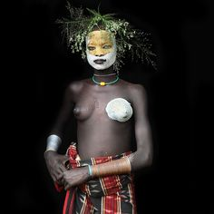 surma girl, ethiopia.  mario gerth.