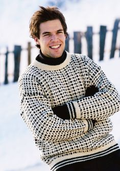 Ravelry: Sandnes pattern by Sandnes Design Mens Knit Sweater, Nordic Sweater, Sweater Vests, Crochet For Kids, Knit Crochet, Knitting Designs, Knitting Patterns, Crochet Patterns, Vintage Sweaters Mens