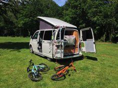 Campervan at River Dart Country Park