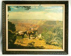 Vintage Framed Print  Cowboy / Horses / Grand by ModLoungeVintage, $36.00