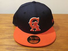 New Era 59Fifty California Angels Retro Throwback Baseball Hat Cap 7 3/8 Fitted