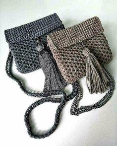 Bolsa crochê feito à mão
