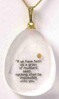 The faith of a mustard seed.