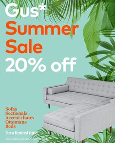 For a limited time, take off a sectional big enough for the whole family. The Gus* Modern Spencer Loft Bi-Sectional is part of our Gus* Summer Sale. Floating Lounge, Chair And Ottoman, Summer Sale, Sectional Sofa, Loft, Base, Outdoor Decor, Modern, Design