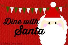 Where to dine with Santa in Lake County  #LilLakeCo #LakeCountyIL #VisitLakeCounty #santa #christmas