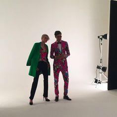 #EnricoCoveri Fall Winter 2016/17 backstage campaign. #coveri #backstage #Milan #colours #print #models @elana_mity @francescomartinicoveri @victorgorincioi