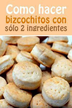 Como hacer bizcochitos con sólo 2 ingredientes Mexican Bread, Pan Dulce, Yummy Food, Tasty, Pan Bread, Sin Gluten, Finger Foods, Cookies, Mexican Food Recipes