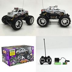 nice New Toy High Speed RC Truck Car Off Road Radio Remote Control White - For Sale
