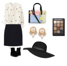 """shooping look"" by paulameleiro on Polyvore featuring Balenciaga, Dr. Martens, Kurt Geiger, Topshop, Sonia Kashuk, Carolee, women's clothing, women, female and woman"