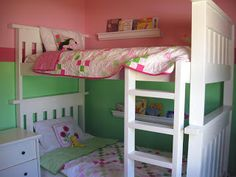 Shared Little Girls Room Redo