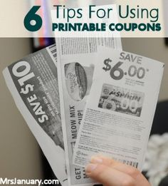 you running into problems using printable coupons? They can be a bit tricky to use, but they are totally worth the effort! Here are 6 tips for making it easier to use printable coupons. Save Money On Groceries, Ways To Save Money, Money Tips, Money Saving Tips, Saving Ideas, Money On My Mind, Printable Coupons, Free Coupons, Extreme Couponing