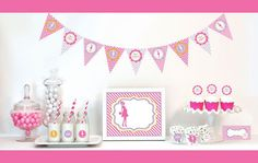 Going to Pop - Pink Decorations Starter Kit - This baby shower theme will tickle your guests and mother-to-be. It's so fun and cute.
