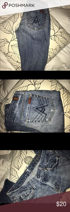 Authentic Joe jeans 👖 Authentic Joe jeans 👖 these jeans are cut at the knees 7 For All Mankind Jeans