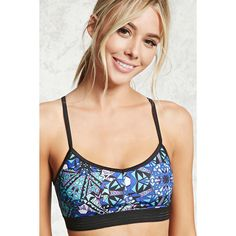 Forever21 Low Impact - Sports Bra ($13) ❤ liked on Polyvore featuring activewear, sports bras, forever 21, low impact sports bra, forever 21 activewear, v neck sports bra and forever 21 sports bra