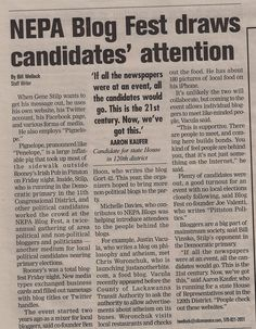 Article about Blog Fest in the 03/31/12 Wilkes-Barre Citizens' Voice Newspaper