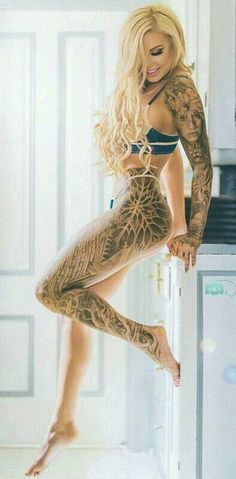 Beautiful Inked & Tattoo Girls