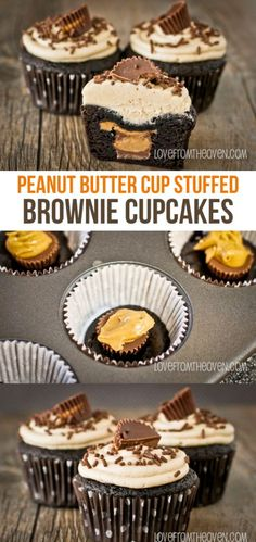 Secret Obsession Peanut Butter Cup Stuffed Brownie Cupcakes His Secret Obsession.Earn Commissions On Front And Backend Sales Promoting His Secret Obsession - The Highest Converting Offer In It's Class That is Taking The Women's Market By Storm Brownie Cupcakes, Yummy Cupcakes, Cupcake Cakes, Coconut Cupcakes, Cupcake Ideas, Chocolate Cupcakes, Reeces Cupcakes, Kahlua Cupcakes, Cheesecake Cupcakes