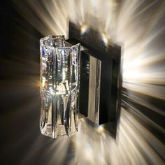 Verve Surface-Mounted Wall Light from Swarovski. OMGoodness I need this light in my home! So beautiful! Bathroom Sconce Lighting, Bathroom Wall Sconces, Candle Wall Sconces, Outdoor Wall Sconce, Bathroom Ceilings, Bedside Lighting, Crystal Sconce, Crystal Wall, Clear Crystal