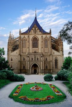 Kutná Hora, Czech Republic  Saint Barbara Cathedral, the second largest in Czech…