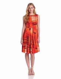 Jones New York Women's Sleeveless Pleated Boat Neck Dress $129.00 & FREE Shipping