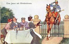 Austria, Imperial Army, Austro Hungarian, Caricature, Diorama, Empire, 1950s, Painting, Belle Epoque