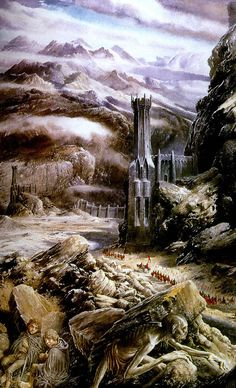 Alan Lee's Lord of the Rings Artwork / Frodo and Sam at the Black Gate
