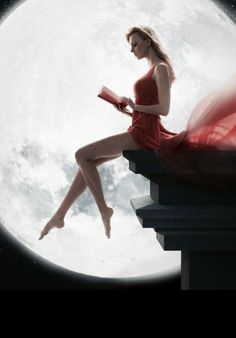 Studying under the moon. Beautiful Moon, Beautiful World, Love Moon, Shoot The Moon, Moon Magic, Moon Goddess, Dark Fantasy Art, Moon Art, Stars And Moon