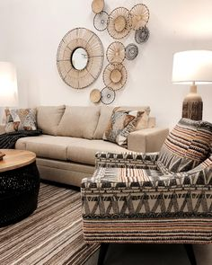 More time at home means more time in your cozy space💛✨ Living Room Goals, Living Room Decor, Modern Rustic, Love Seat, Cozy, Furniture, Space, Home Decor, Drawing Room Decoration