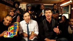 Love this!!! Jimmy Fallon, Robin Thicke, and The Roots Perform 'Blurred Lines' on Classroom Instruments