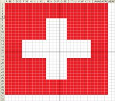 swiss flag cross stitch - Google Search