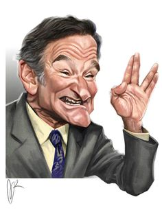 Robin Williams Caricature by Marzio Mariani. #Celebrity #Caricatures #Oddonkey