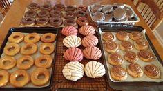 Sweet buns- Donuts -cinnamon rolls- chocolate kookis with buttercream between