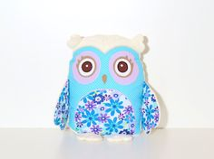 Organic Owl Pillow Handmade Custom Baby Owl by Customquiltsbyeva