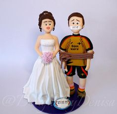 Personalized Handmade Wedding Cake Topper Figurines Bride