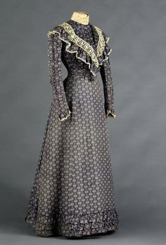 Day dress ca. 1897 From the Musée Galliera