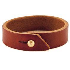 Leather Cuff - Chestnut