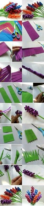 Kartonlardan çiçek yapımı