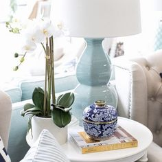 How divine is the 'Enchantment' table lamp. We are a little obsessed with duck egg green at the moment.⠀ Shop ~ Sanctuary Cove & James St New Farm⠀ www.hamptonsstyle.com.au⠀