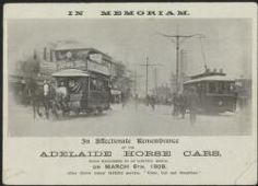 Adelaide horse car and electric tram, South Australia, 1909.