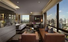 With amazing views of the city you may struggle to leave your guest room at The Landmark Bangkok