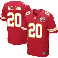 Nike Elite Steven Nelson Red Men's Jersey - Kansas City Chiefs #20 NFL Home