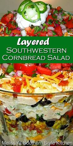 Mexican Dishes, Mexican Food Recipes, Great Recipes, My Favorite Food, Favorite Recipes, Cornbread Salad, Savory Salads, Cooking Recipes, Healthy Recipes
