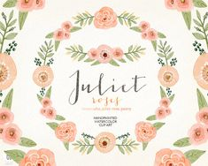 Watercolor coral olive wreath juliet roses by GrafikBoutique Watercolor Flower Wreath, Coral Watercolor, Vintage Invitations, Diy Invitations, Invite, Pink Wreath, Floral Wreath, Blush Pink Wedding Flowers, Olive Wreath