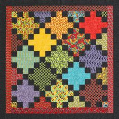 Easy Row Quilt.  This is a wonderful pattern.  Very easy. :-)