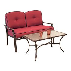 Hawthorne 2-Piece Deep Seating Loveseat Set in Red