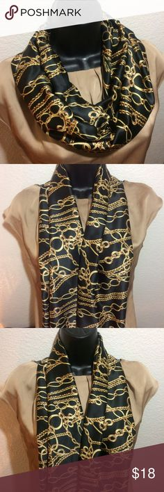 Black and cream infinity scarf Black and cream infinity scarf Accessories