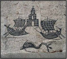 Navy Mosaic from Ostia Antica.