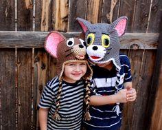 Crochet   Mouse hatcrochet cat hat. por KrazyHats1 en Etsy, $30.99