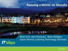 Running a MOOC on Moodle