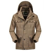 Mens Jackets Winter Turn-down Collar Outdoors Male Pockets Army Man Veste Homme Manteau S-VarietyStore